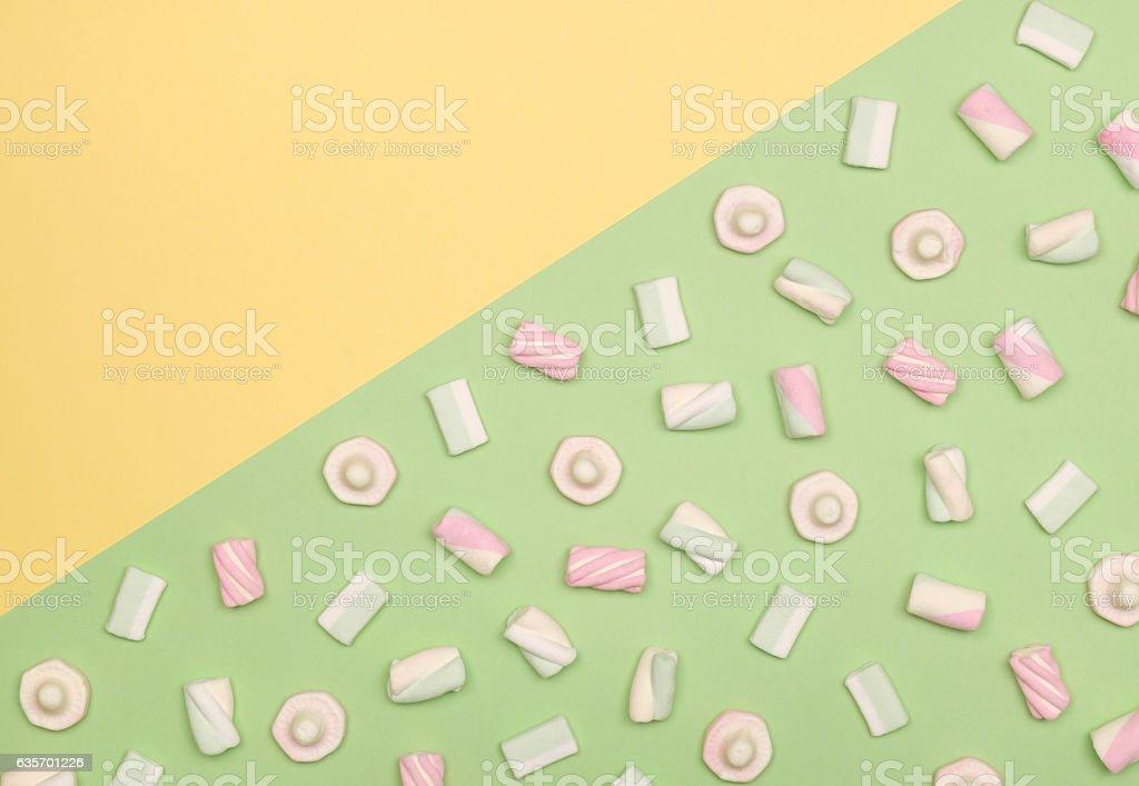 Marshmallows flat lay royalty-free stock photo