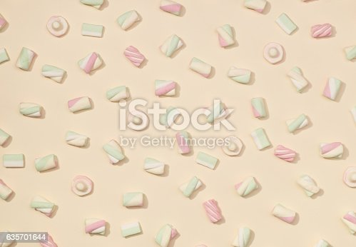 Marshmallows Flat Lay Stock Photo & More Pictures of Abstract