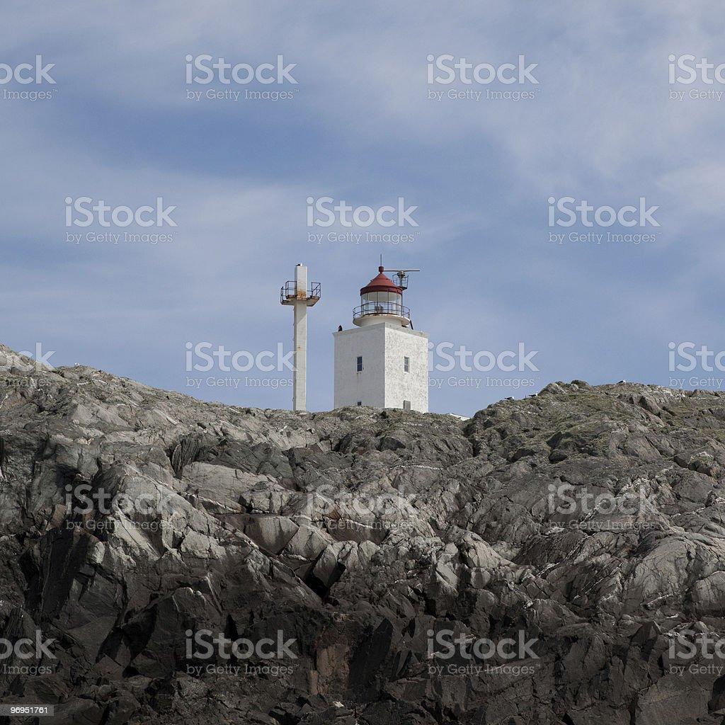 Marsteinen lighthouse royalty-free stock photo