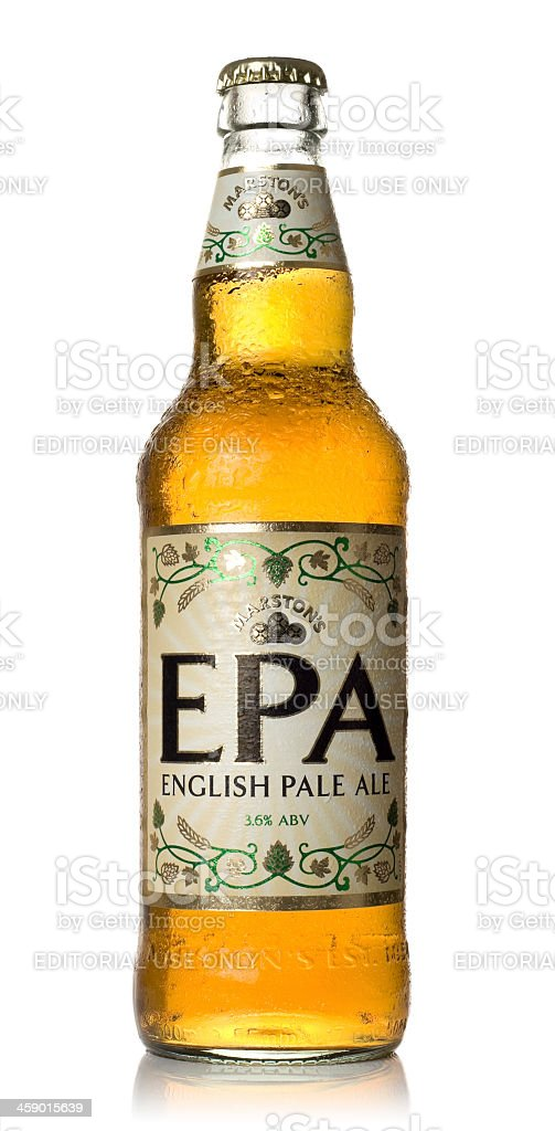 Marston's English Pale Ale stock photo