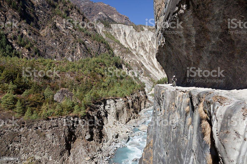 Marsyangdi Gorge, Nepal stock photo