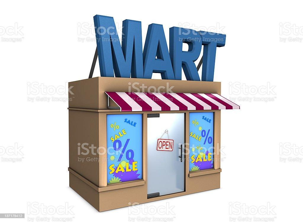 Mart royalty-free stock photo