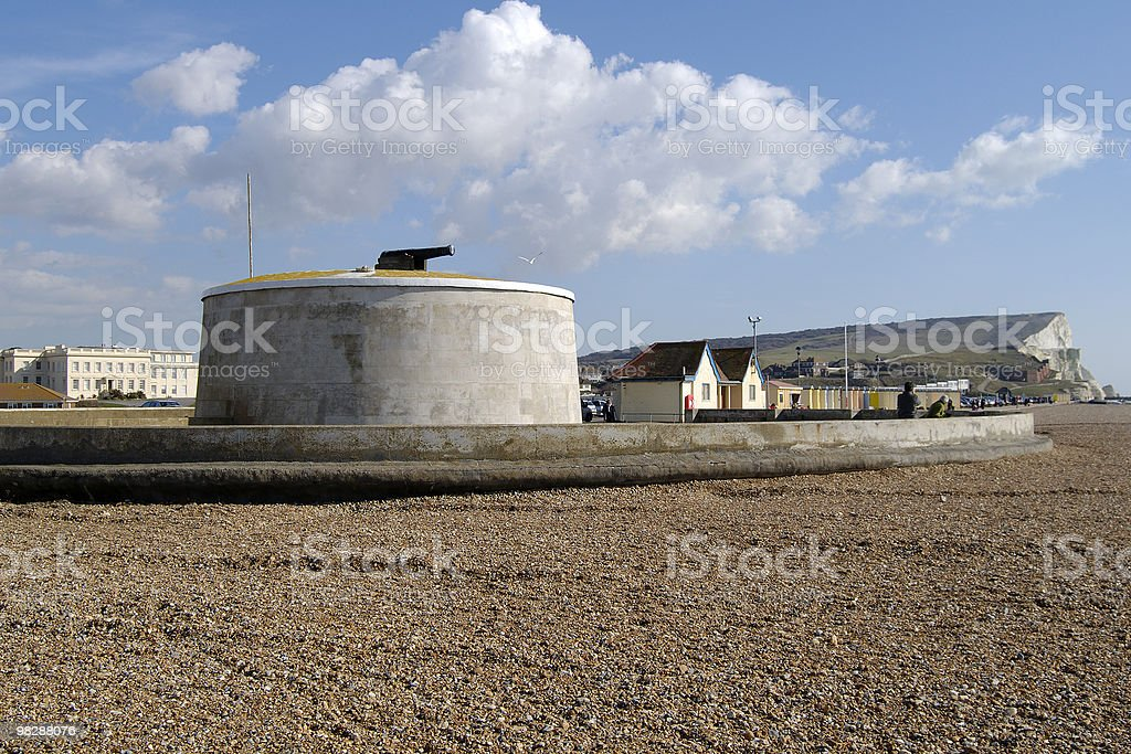Torre Martello presso Seaford. East Sussex. Inghilterra foto stock royalty-free