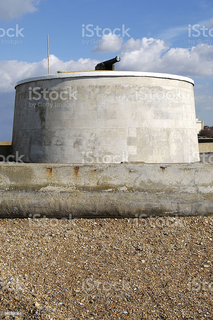 Martello Tower at Seaford. East Sussex. England royalty-free stock photo