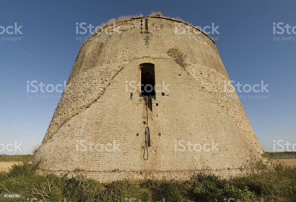 Martello Tower, Shingle Street, UK stock photo