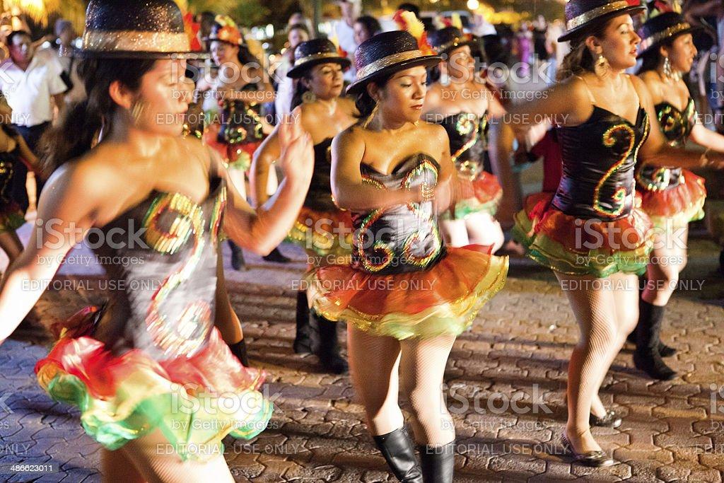 Martes de Carnaval, Mardi Gras Street Parade of Mexico royalty-free stock photo