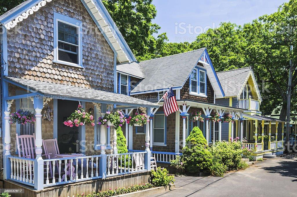 Martha's Vineyard Cottages stock photo