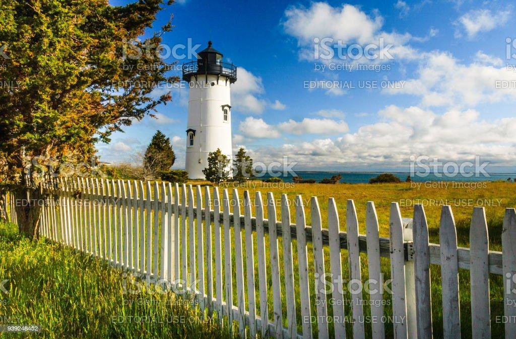 Martha's Vineyard Lighthouse stock photo