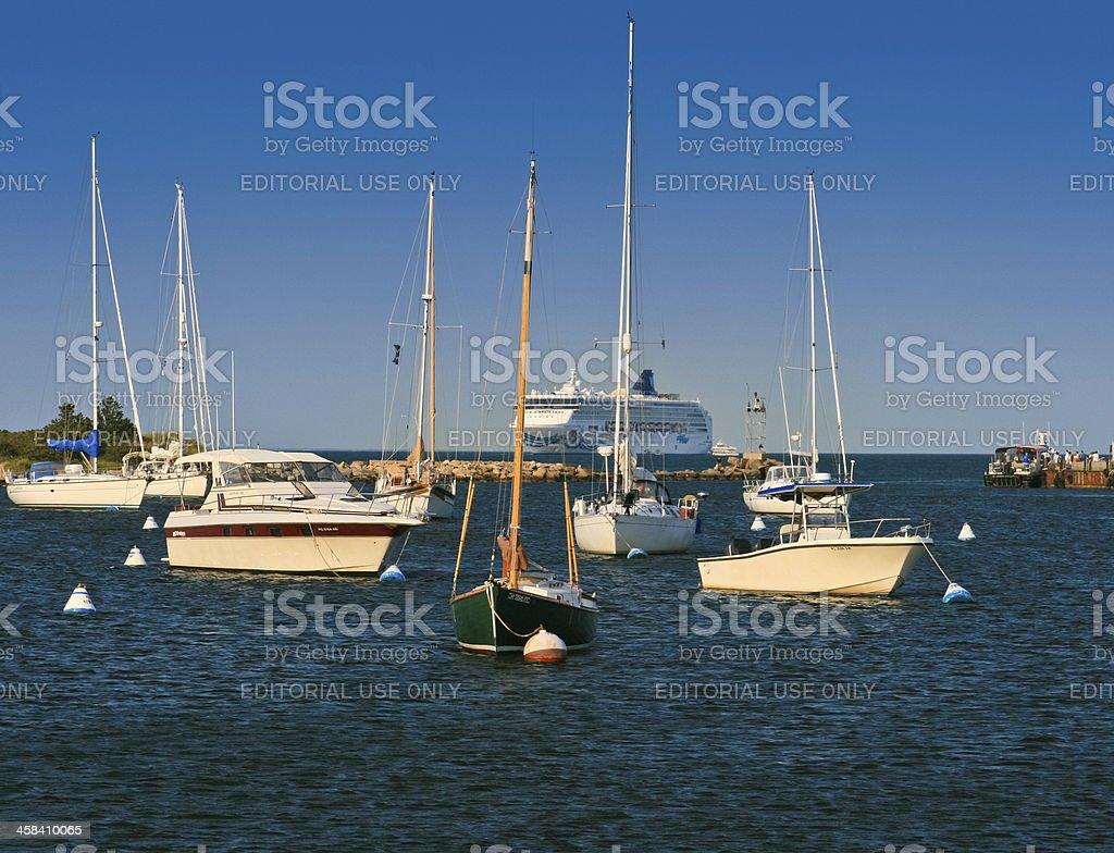 Martha's Vineyard Marina. royalty-free stock photo