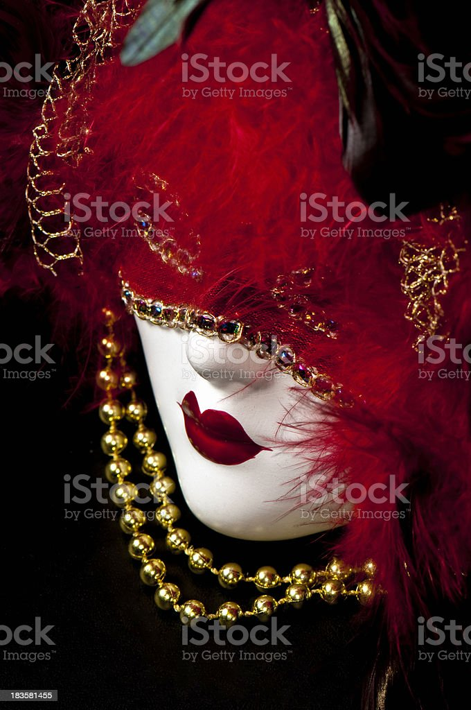 Marti Gras Mask Red royalty-free stock photo
