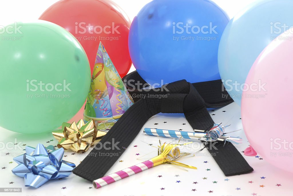 Martial art celebration stock photo