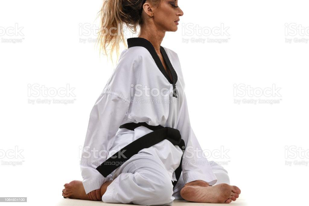 Martial Art Emotion stock photo