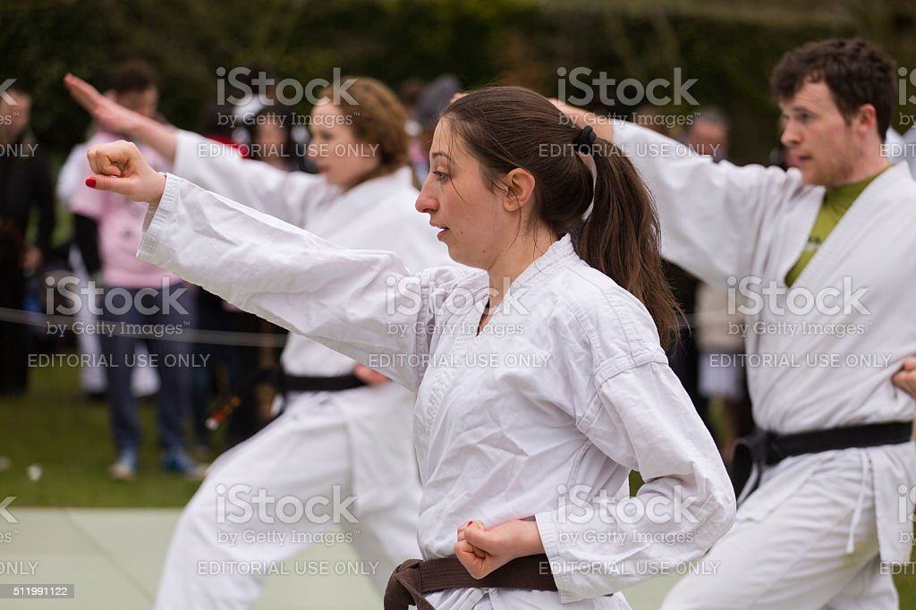 Martial art sport - Karate Kata stock photo