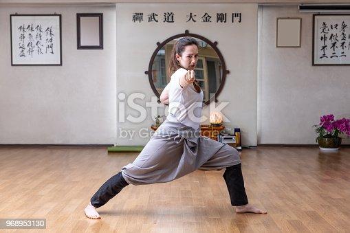 Martial art training in the studio