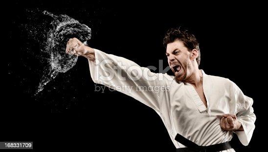 Martial art water splash punch
