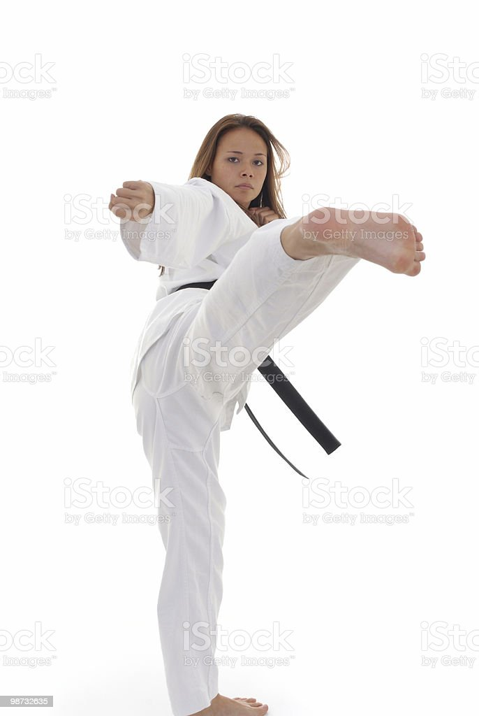 Martial artist all warmed up royalty-free stock photo