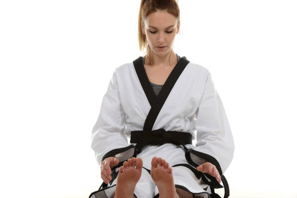 Martial Artist Retention stock photo