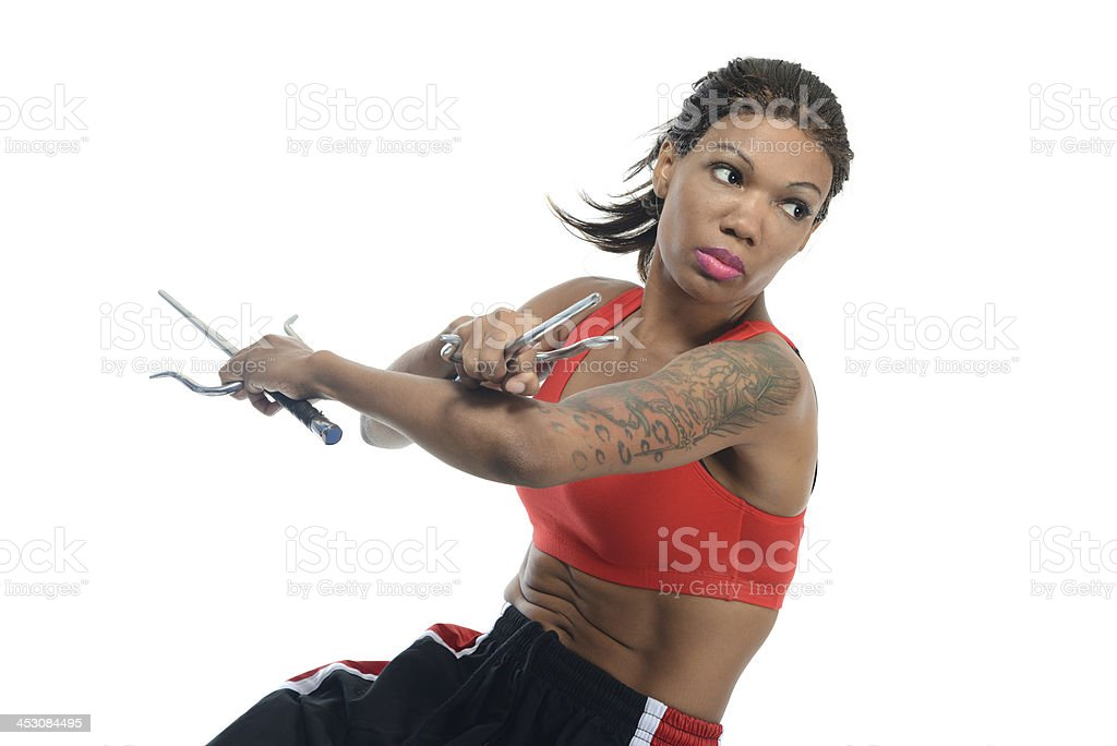 Martial arts action stock photo