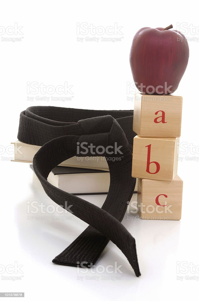 Martial arts basics stock photo