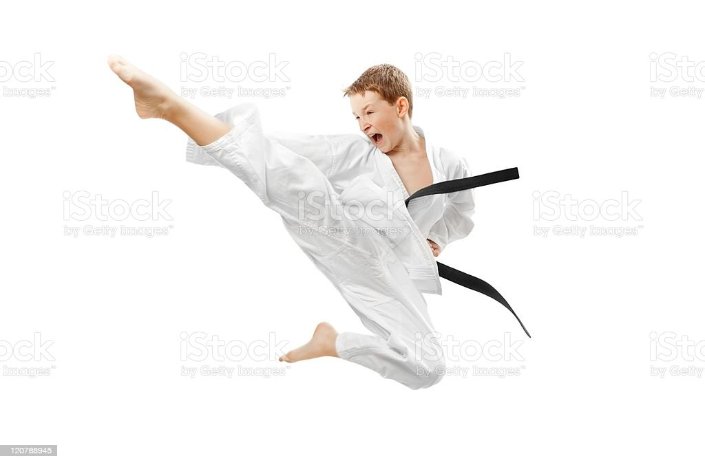 Martial arts boy stock photo