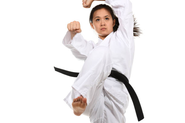 Martial Arts Concentration and Power stock photo