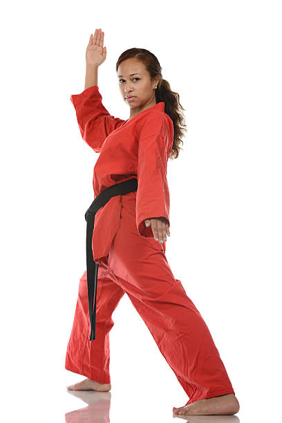 Martial arts dynamic focus stock photo