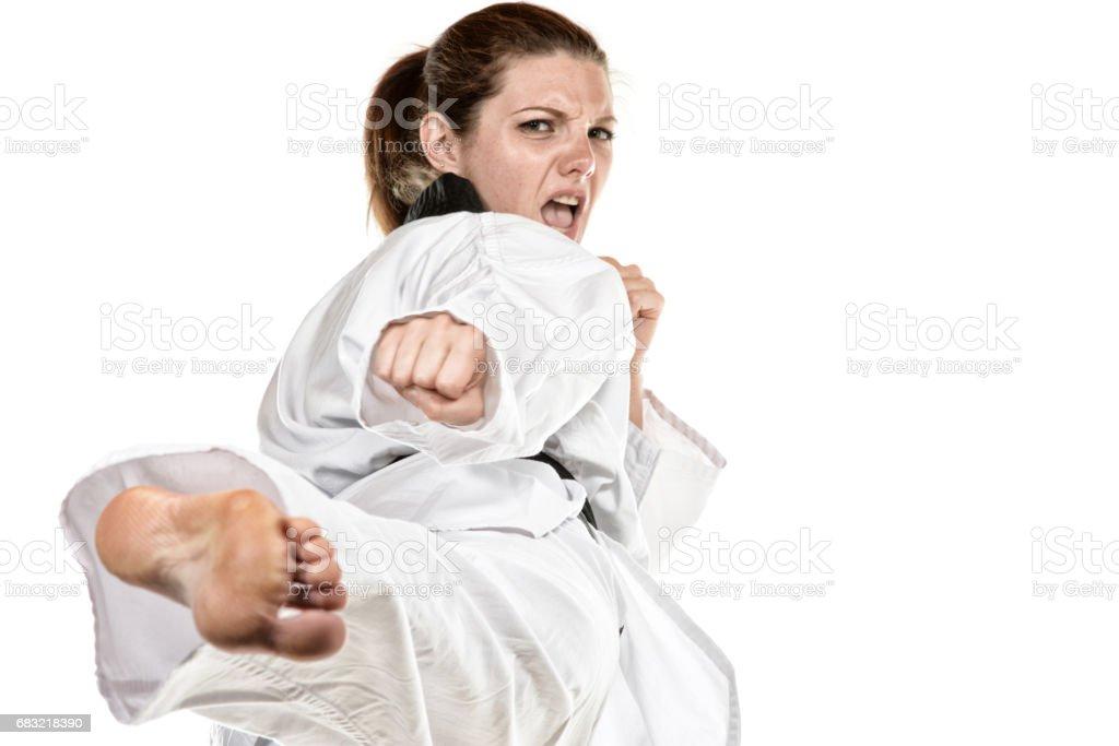 Martial Arts effort foto de stock royalty-free