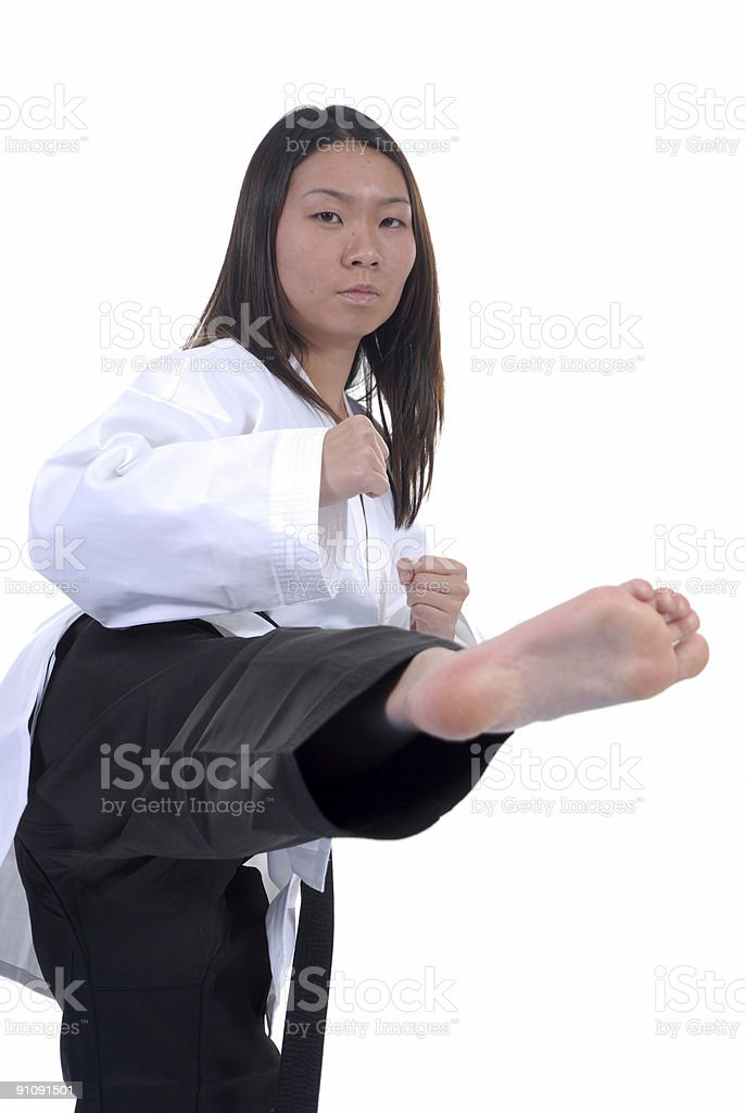 Martial arts emphasis royalty-free stock photo