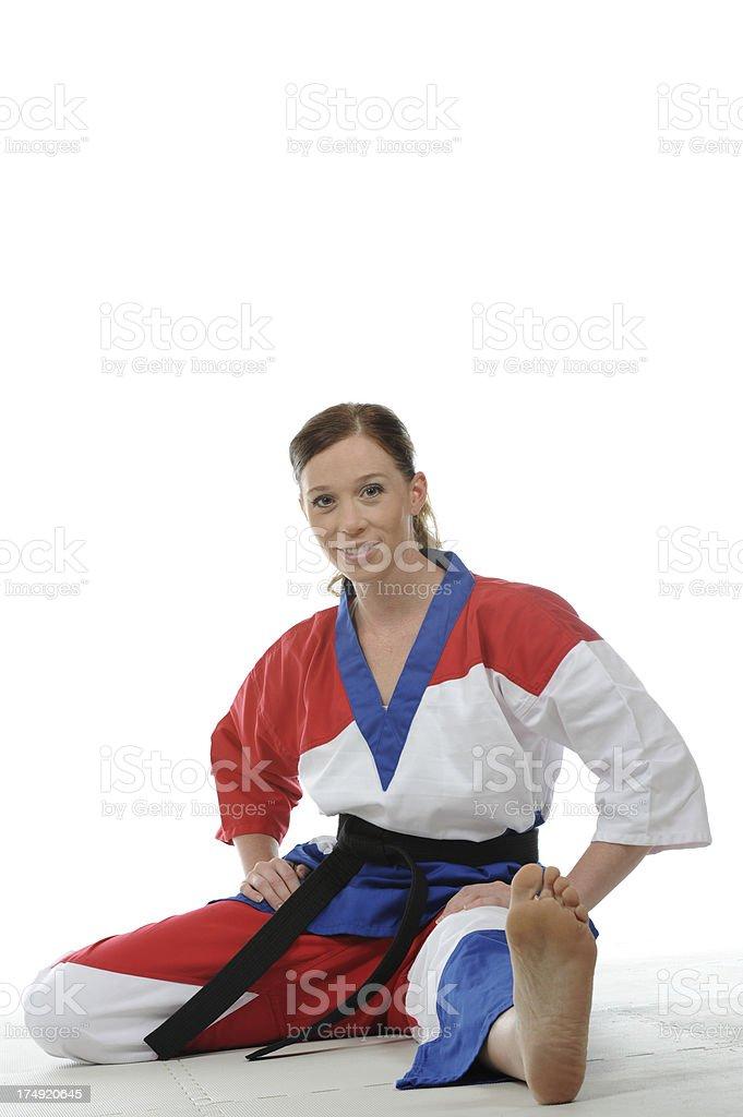 Martial arts enjoyment stock photo