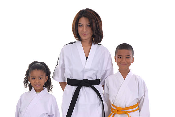 martial arts family - martial arts gerville stock pictures, royalty-free photos & images