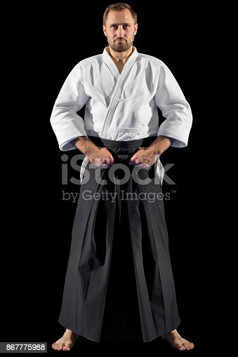 istock Martial arts fighter isolated 867775988