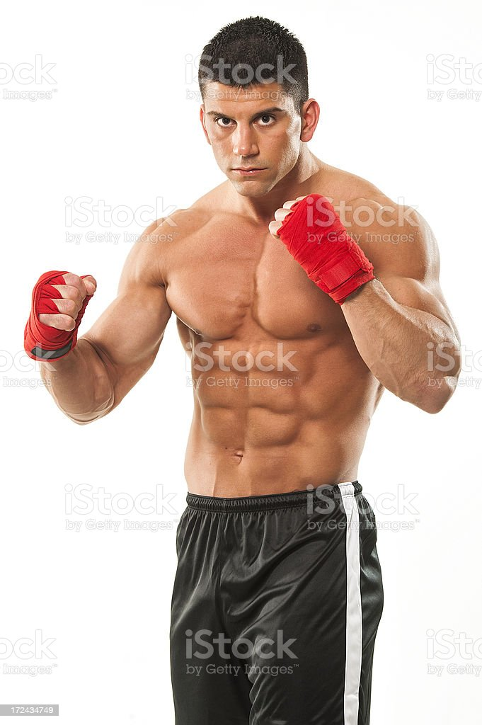 Martial Arts Fighter, MMA,Boxer royalty-free stock photo