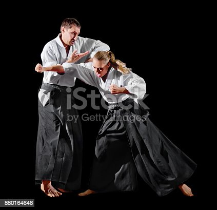 istock Martial arts fighters isolated 880164646