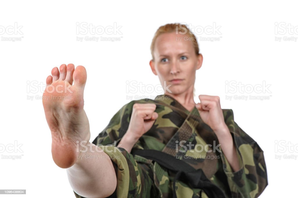 Martial Arts Front Kick stock photo