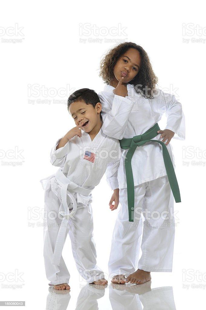 Martial arts fun stock photo