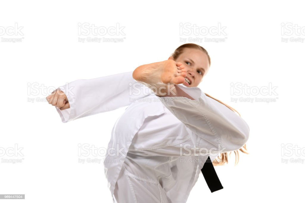Martial Arts Intensity and Desire stock photo