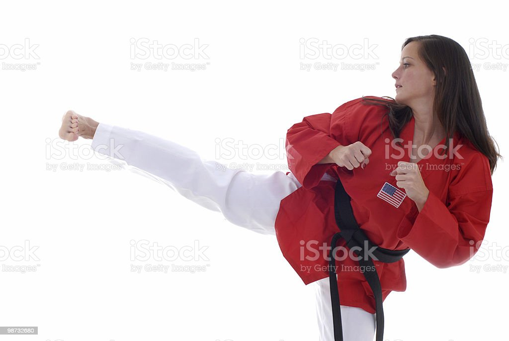 Martial arts kick with snap 免版稅 stock photo