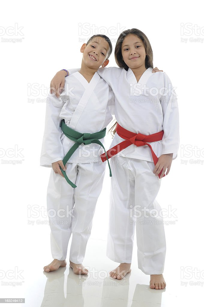Martial Arts Kids stock photo