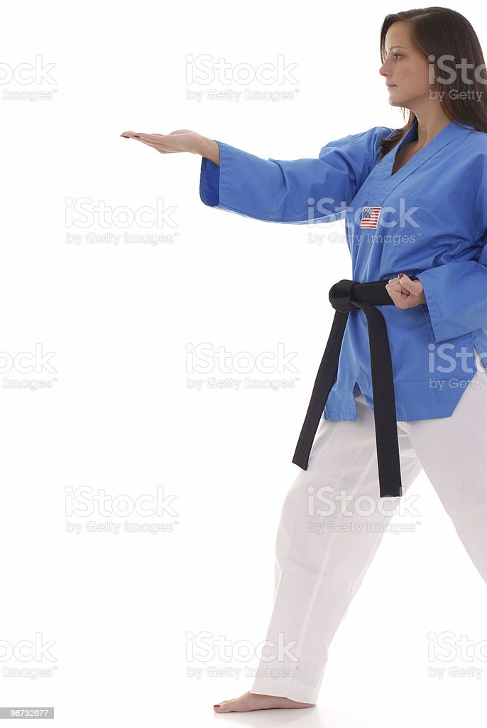 Martial arts knife hand form royalty-free stock photo