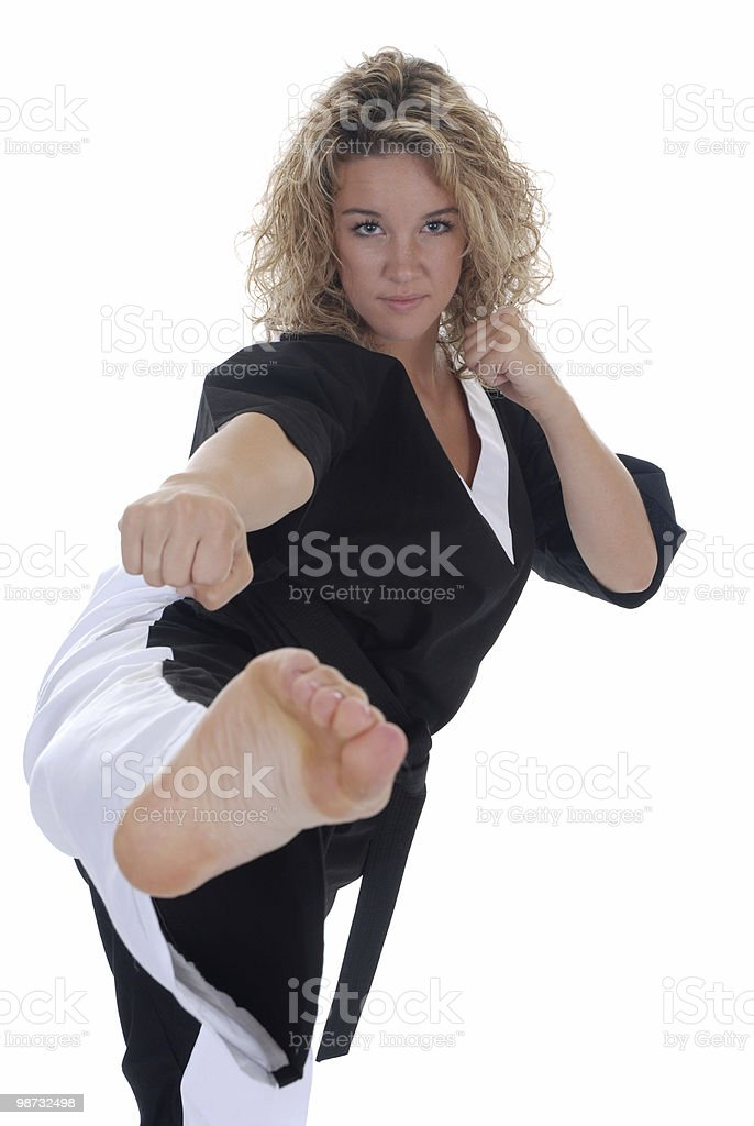 Martial arts power and grace royalty-free stock photo