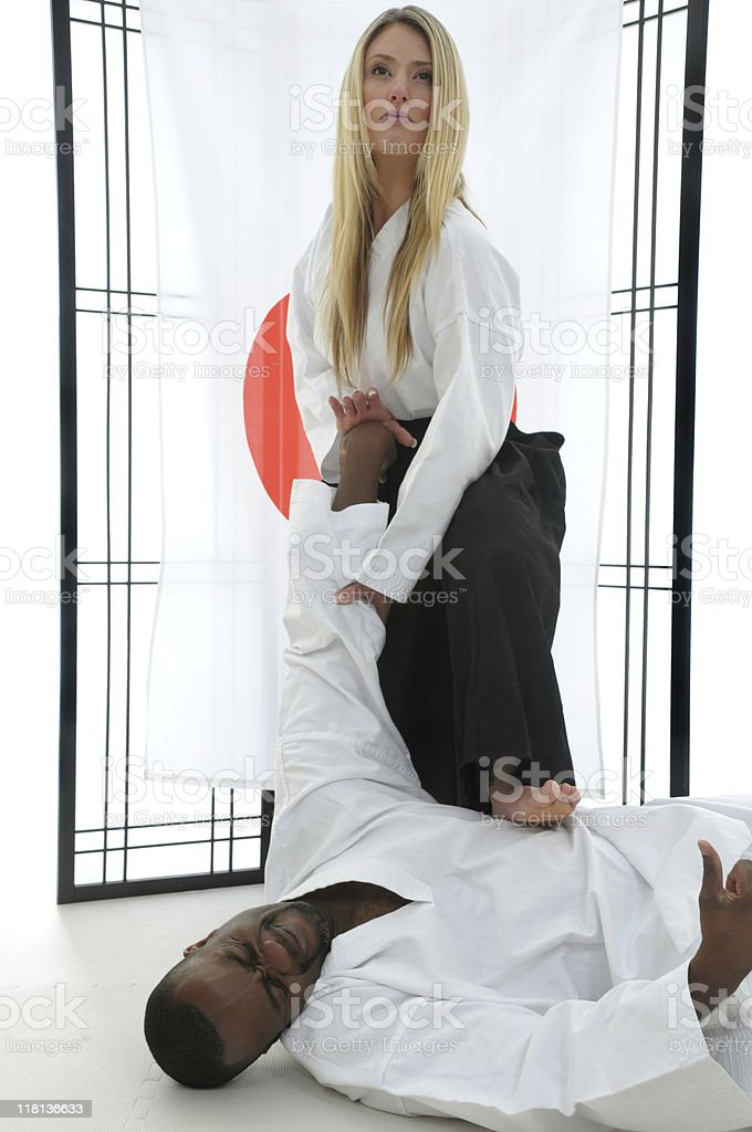 Martial Arts pressure and submission royalty-free stock photo
