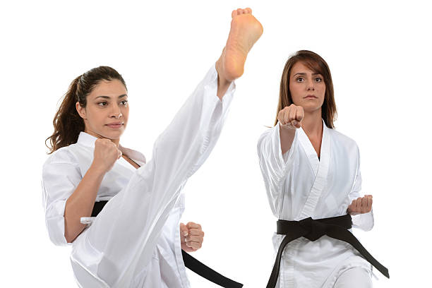 martial arts self-defense - martial arts gerville stock photos and pictures