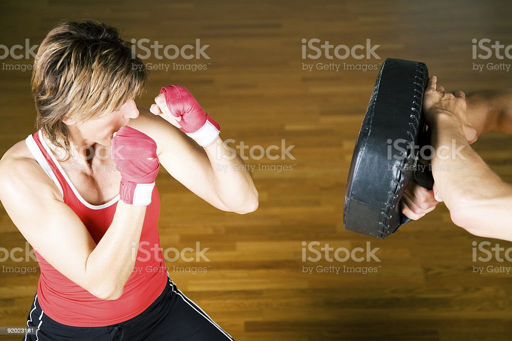 Martial Arts Sparring royalty-free stock photo