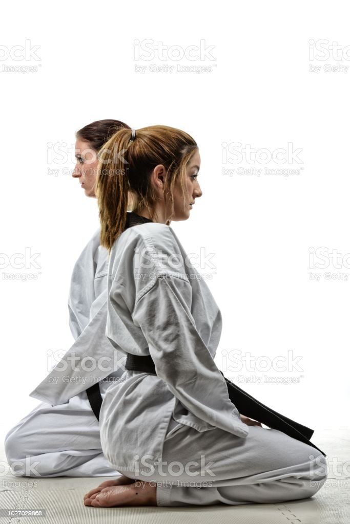 Martial Arts Students stock photo