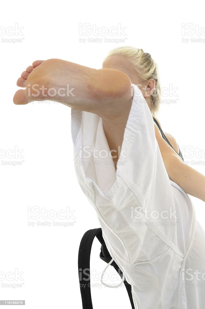 Martial Arts training and exercise royalty-free stock photo