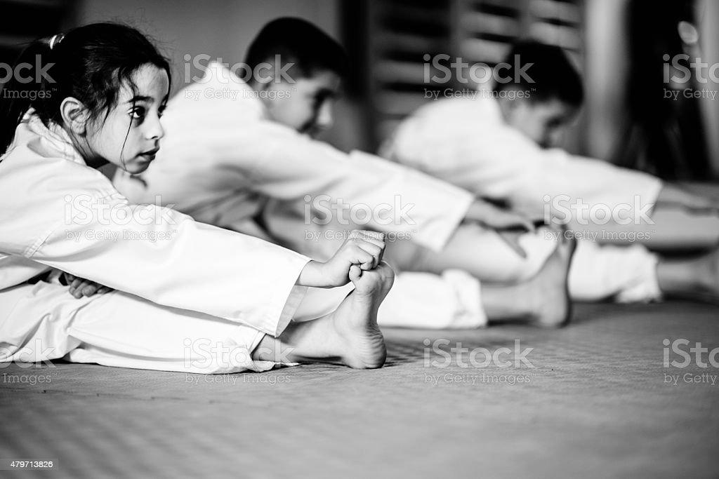 武術トレーニングクラスのお子様には、 ストックフォト