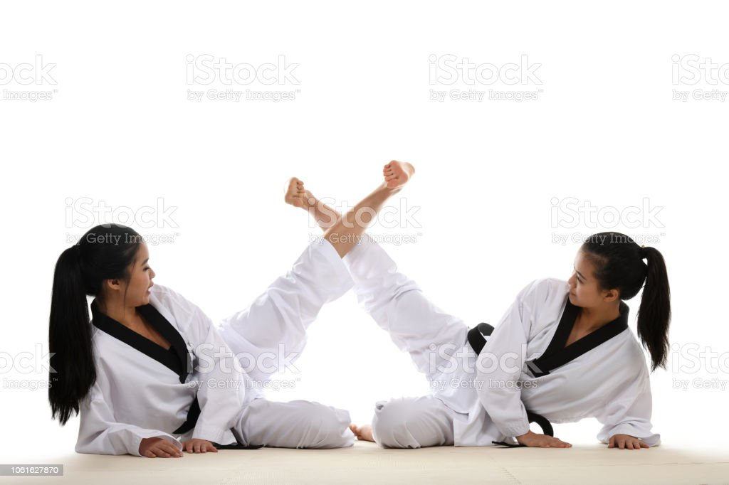 Martial Arts Training Partners stock photo