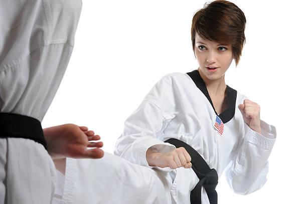 Martial technique stock photo