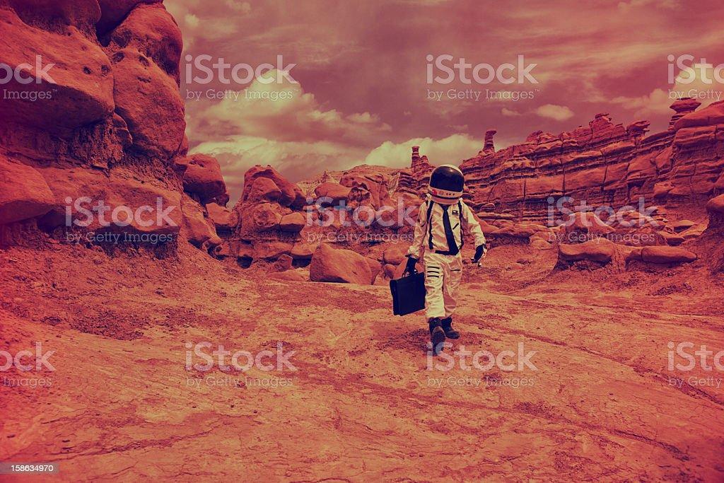 Martian Commute stock photo