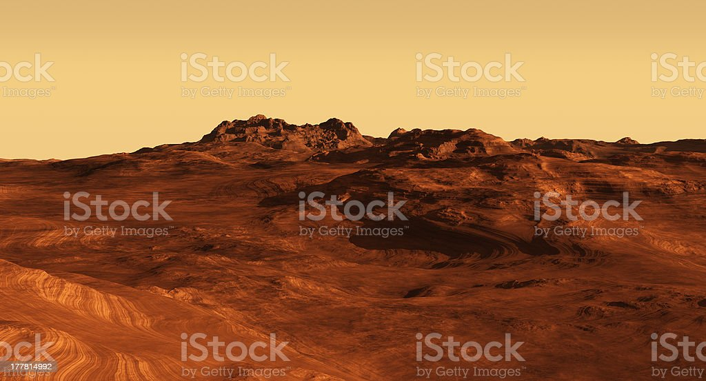 Martian Landscape Illustration stock photo